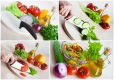 Colagem do alimento do vegetariano fotografia de stock royalty free