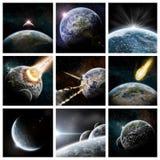 Colagem do apocalipse ilustração stock