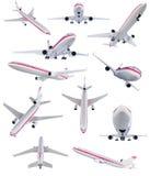 Colagem do avião isolado Fotos de Stock Royalty Free