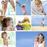 Colagem do bebê fotografia de stock royalty free