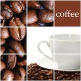 Colagem do café Fotografia de Stock