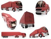Colagem do caminhão isolado do conceito Imagem de Stock