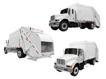Colagem do caminhão de descarga isolado Imagens de Stock