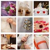 Colagem do casamento Foto de Stock Royalty Free
