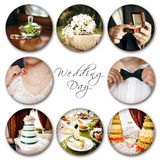 Colagem do casamento Fotografia de Stock