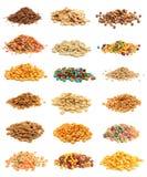 Colagem do cereal imagens de stock royalty free