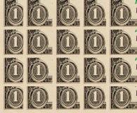 Colagem do close-up dos dólares para o fundo Imagem de Stock Royalty Free