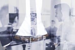 Colagem do conceptul da equipe da empresa, do empreendimento e do negócio imagens de stock