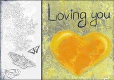 Colagem do coração Fotografia de Stock Royalty Free