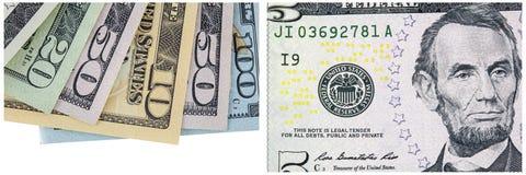 Colagem do dinheiro da borda das contas de dinheiro fotografia de stock royalty free