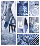 Colagem do Dishware imagens de stock royalty free