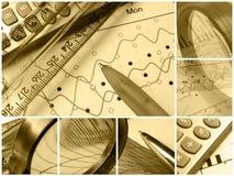 Colagem do engranzamento (sepia) imagens de stock