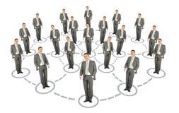Colagem do esquema do sistema da cooperação do homem de negócios Fotografia de Stock Royalty Free