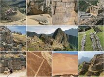 Colagem do marco do Peru fotografia de stock royalty free