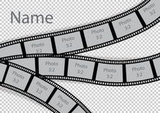 Colagem do molde do efeito do quadro da foto da tira do filme ilustração stock