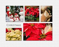 Colagem do Natal Fotos de Stock Royalty Free