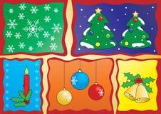 Colagem do Natal Fotografia de Stock Royalty Free