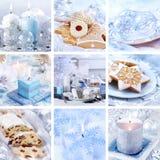 Colagem do Natal no branco Fotos de Stock Royalty Free