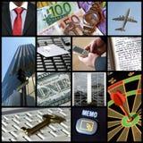 Colagem do negócio Imagem de Stock