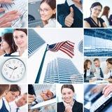 Colagem do negócio imagem de stock royalty free