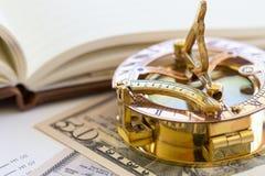 Colagem do negócio com vários artigos Fotografia de Stock Royalty Free