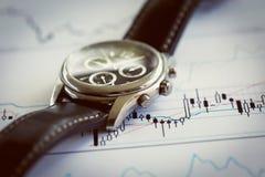 Colagem do negócio com vários artigos Fotos de Stock Royalty Free