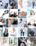 Colagem do negócio das imagens com povos fotografia de stock royalty free