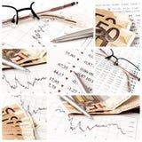 Colagem do negócio Fotografia de Stock