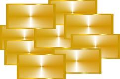 Colagem do ouro Imagens de Stock