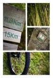 Colagem do passeio na montanha Fotos de Stock