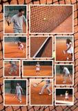 Colagem do tênis imagens de stock royalty free