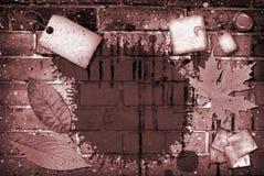 Colagem do tijolo Fotografia de Stock