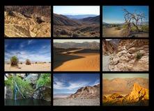 Colagem do Vale da Morte Imagens de Stock Royalty Free