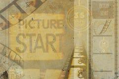 Colagem do vintage do filme do cinema Foto de Stock