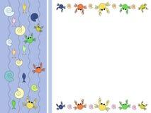 Colagem dos animais de mar Fotografia de Stock Royalty Free