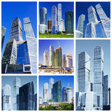 Colagem dos arranha-céus Imagens de Stock Royalty Free