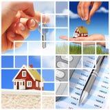 Colagem dos bens imobiliários. Imagens de Stock
