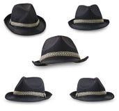 Colagem dos chapéus Fotos de Stock Royalty Free
