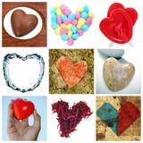 Colagem dos corações foto de stock