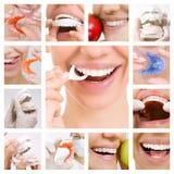 Colagem dos cuidados dentários (serviços dentais) Foto de Stock Royalty Free
