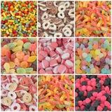 Colagem dos doces Imagem de Stock