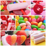 Colagem dos doces Fotografia de Stock Royalty Free