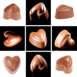 Colagem dos doces de chocolate Imagem de Stock Royalty Free