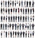 Colagem dos executivos novos que estão em seguido foto de stock royalty free