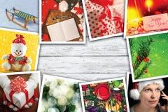 Colagem dos feriados do Natal e do ano novo Fotos de Stock