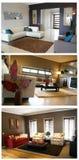 Colagem dos interiores Fotografia de Stock Royalty Free