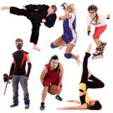 Colagem dos povos do esporte Imagens de Stock Royalty Free