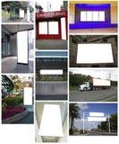 Colagem dos quadros de avisos Imagens de Stock Royalty Free
