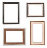 Colagem dos quadros isolados no branco Fotografia de Stock