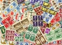 Colagem dos selos foto de stock